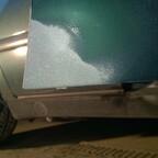 Ehemaliges Rosteck an der Beifahrertür außen
