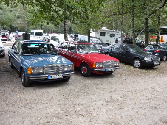 W123 Rot + Blau