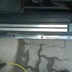 Unter der Schwellerleiste - nach dem Einsatz der CSD-Scheibe auf der Flex