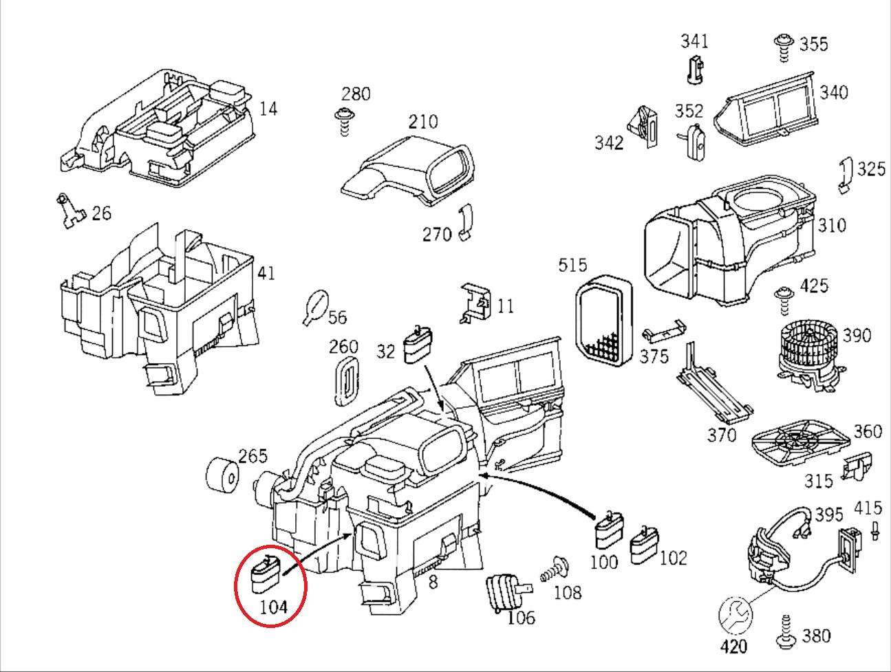 Mercedes W203 Teilekatalog
