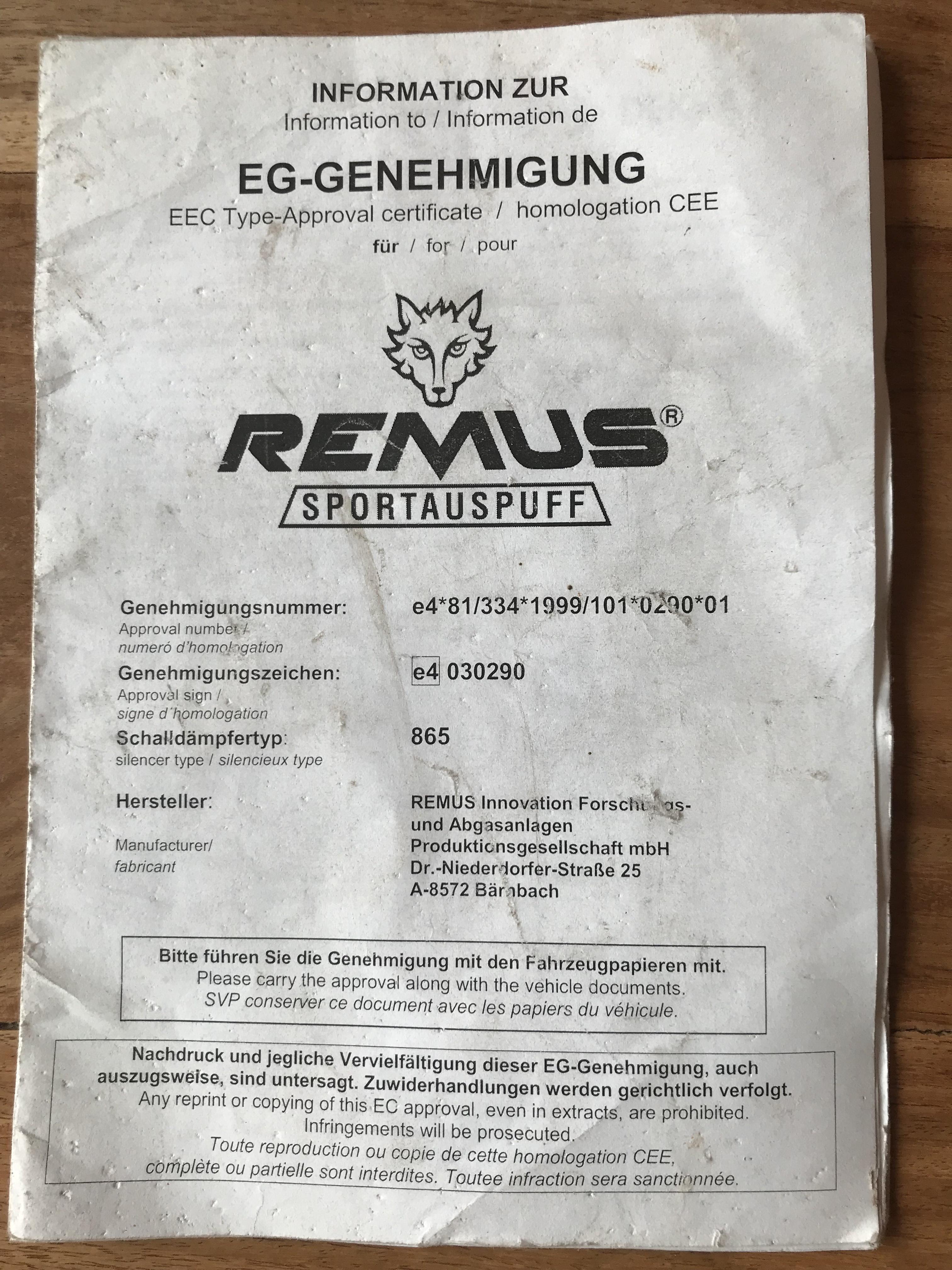D/ämpfer Abgasanlage Auspufftopf Endschalld/ämpfer Auspuff Inkl 1220-19722 Montagesatz