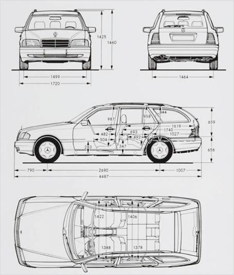 W202 abmessungen c klasse forum for Audi a4 breite mit spiegel
